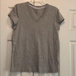 Gray v neck T-shirt